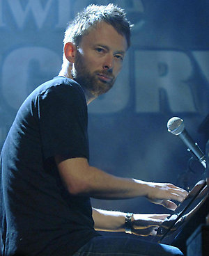 Thom Yorke on stage during the Nationwide Mercury Prize 2006 at Grosvenor House, central London.