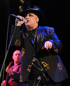 Boy George performs live at the Caribana Festival, held in Crans sur Nyon, Switzerland.