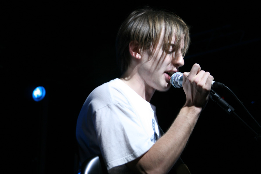 Jack Steadman of Bombay Bicycle Club performs on stage at Nottingham Rock City, as the band support Maximo Park on their UK tour.