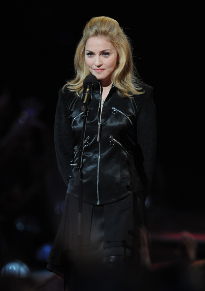 ** COMMERCIAL IMAGE ** Madonna performs during the MTV Video Music Awards at Radio City Music Hall on Sunday, Sept. 13, 2009, in New York. (Brad Barket/PictureGroup via AP Images)