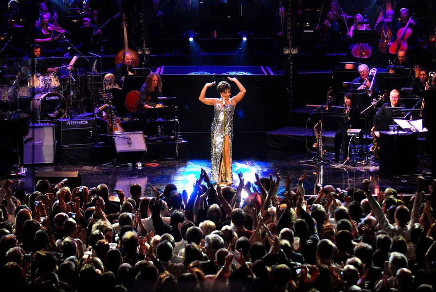 Dame Shirley Bassey takes to the stage from London's Roundhouse for BBC Electric Proms. TX Friday 23rd - 24th October 2009 on BBC RADIO 2, BBC TWO and BBC HD