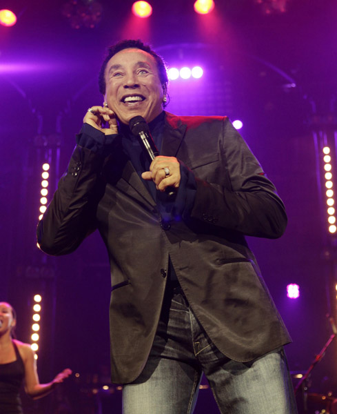 Smokey Robinson performs on stage at the Roundhouse during the BBC Electric Proms in Camden, London.