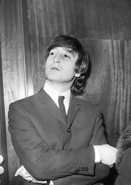 John Lennon of The Beatles during a press conference before a show iat the Gaumont in Kilburn, north London.