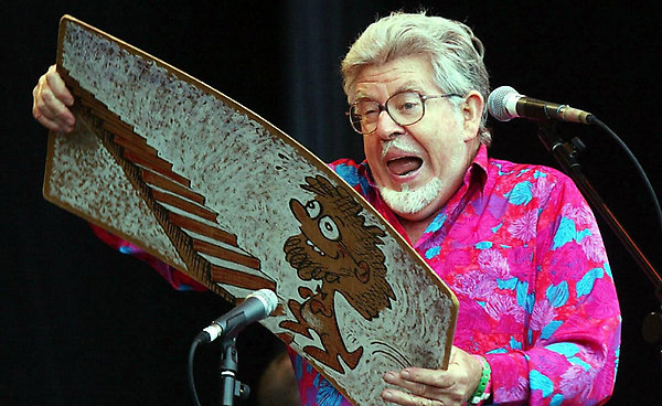 File photo dated 30/6/2002 of Rolf Harris playing the main stage at Glastonbury Festival. Harris has recorded his legendary wobble board on the soundtrack of a new Hollywood film.