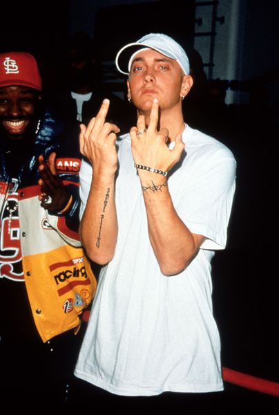 Eminem at the 2000 American Music Awards ceremony