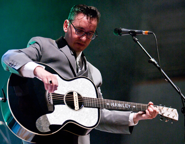 Richard Hawley performs in concert at The Town Hall in Birmingham.