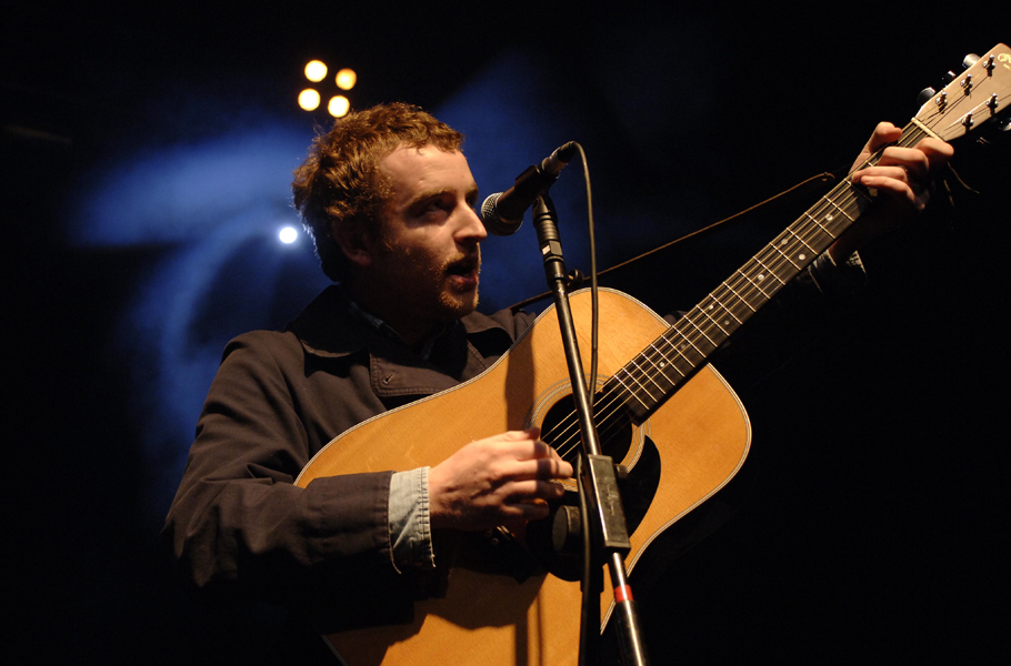 Stephen Fretwell performs an acoustic gig in aid of the Nordoff Robbins charity at the Astoria in central London.