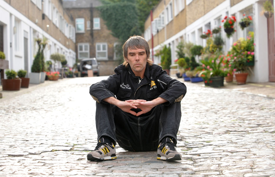 Portrait of singer Ian Brown in west London.