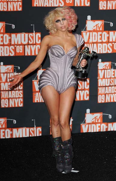 Lady Gaga in the press room of the 2009 MTV Video Music Awards held at the Radio City Music Hall in New York City, New York, USA