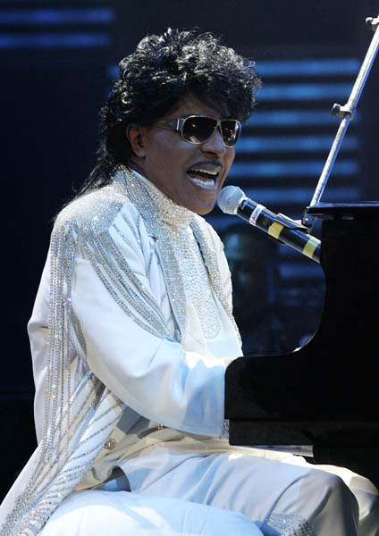 FILE - In this Saturday, May 30, 2009 picture, Little Richard performs at The Domino Effect, a tribute concert to New Orleans rock and roll musician Fats Domino, at the New Orleans Arena. (AP Photo/Patrick Semansky)