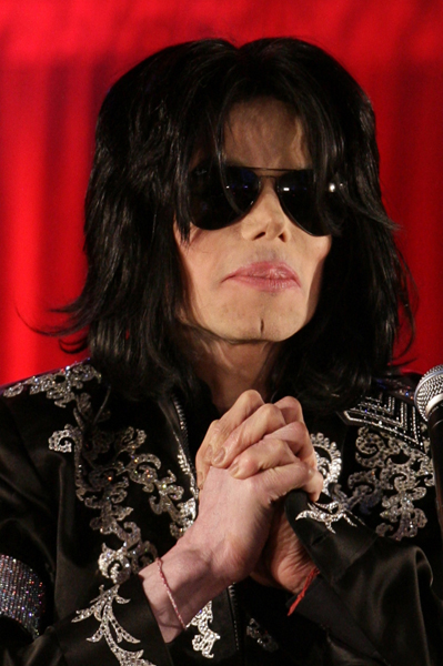Michael Jackson announces plans for his last performances in London in July at the O2 Arena, during a press conference held at the O2 Arena in Greenwich, London.