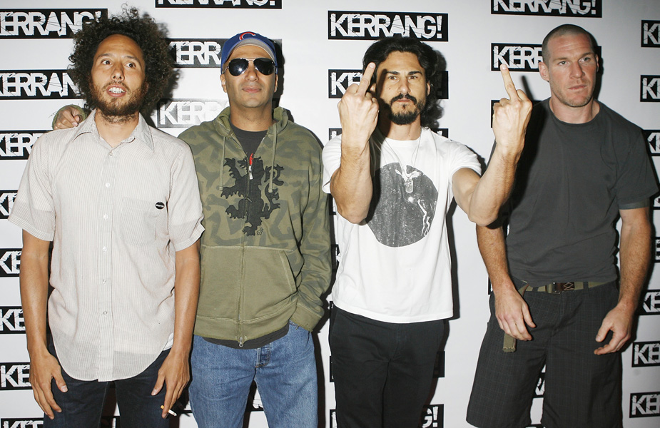 Rage against the Machine at the Kerrang Awards, the Brewery in central London.