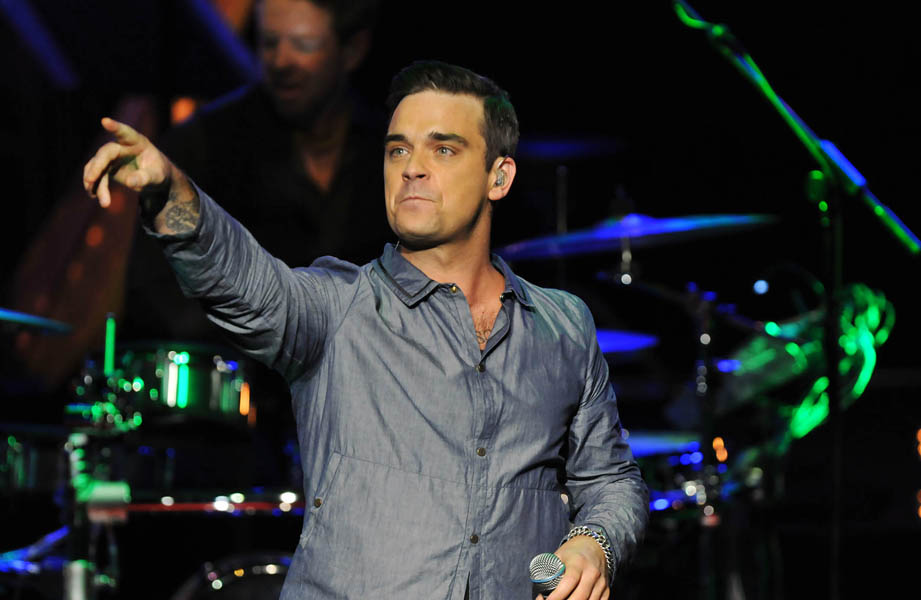 Robbie Williams takes to the stage from London's Roundhouse for BBC Electric PromsTuesday 20th October 2009 on BBC Radio 1, BBC TWO and BBC HD Photo credit BBC