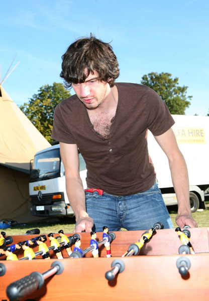 Gary Lightbody of Snow Patrol backstage at the Absolute Radio VIP area during the Virgin Media V Festival at Hylands Park, Chelmsford, Essex.