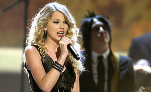 Taylor Swift performs at 'The Grammy Nominations Concert Live!' at the CBS Television Network in Los Angeles.
