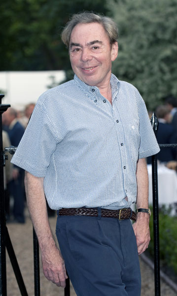 Lord Andrew Lloyd Webber arriving at the Sir David Frost Summer Garden Party 2009, Carlyle Square in Chelsea, central London.