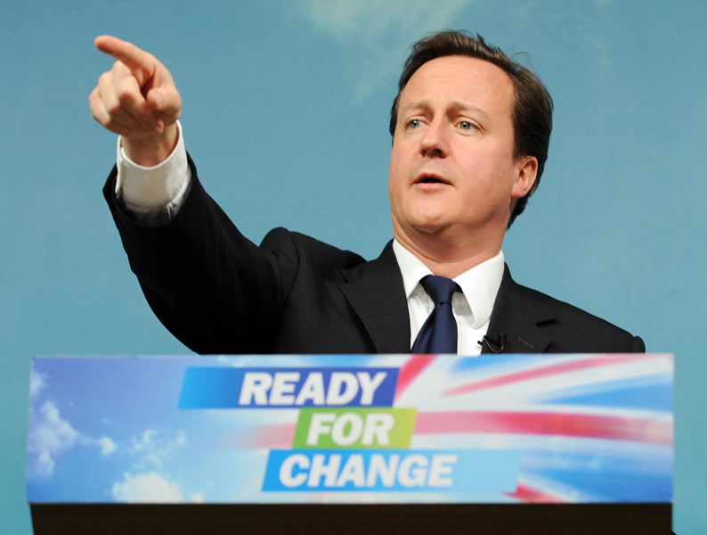 File photo dated 1/12/2009 og Conservative Party leader David Cameron who today said he would step up campaigning for the general election early in the New Year, with a positive message for voters that there is 'light at the end of the tunnel' following the recession.