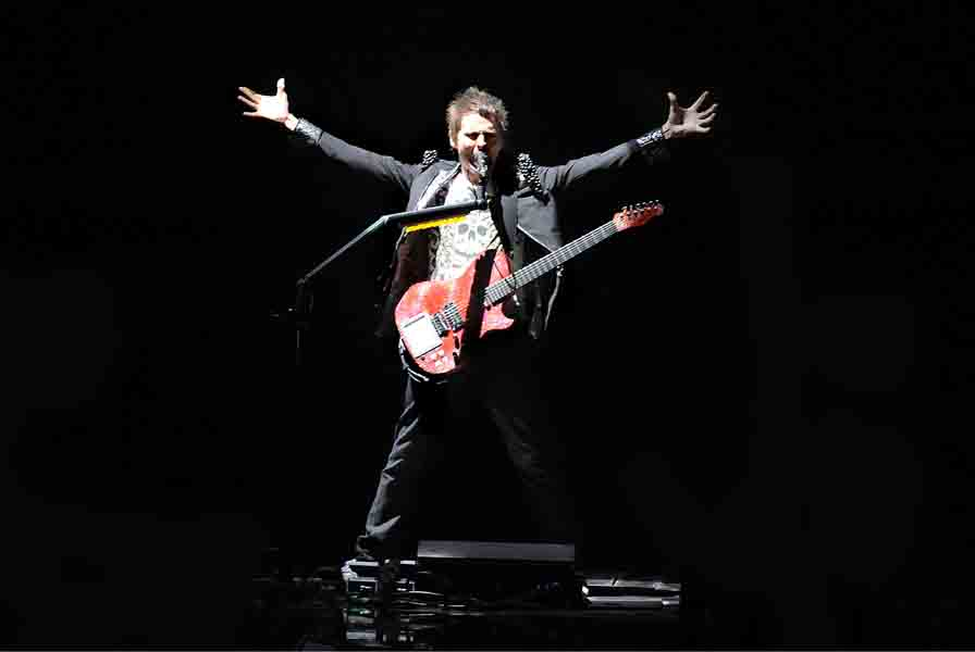 **EDITORIAL USE ONLY. NOT FOR USE AFTER 18/11/09** Matt Bellamy of Muse performs live in concert at Sheffield Arena on the first night of their UK tour.