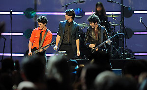 The Jonas Brothers perform on stage at the ÒKids Inaugural: We Are the FutureÓ concert at the Verizon Center in downtown Washington.