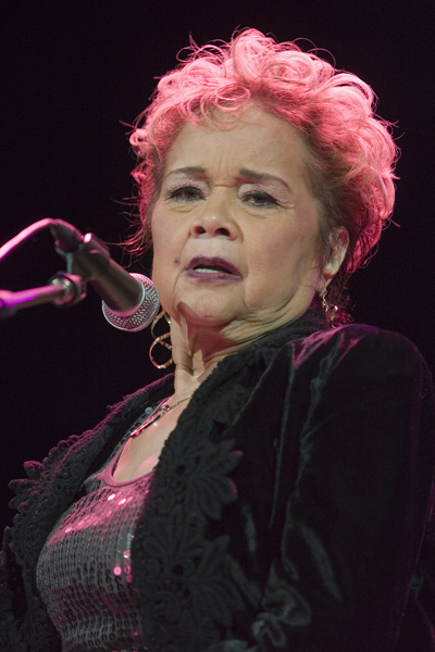 R&B and Blues performer Etta James sings to a sold out house at the River Rock Casino in Richmond, near Vancouver, BC, Canada on January 30, 2009.