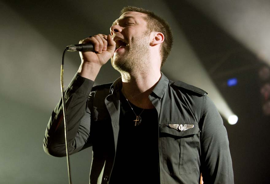 Tom Meighan of Kasabian performs an exclusive Myspace gig at Heaven in London
