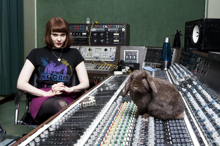 Kate Nash in  her north London studio shot for NME 09.11.09