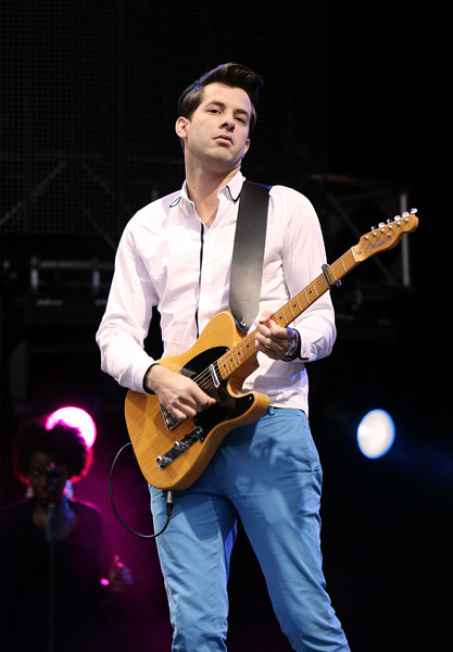 Mark Ronson performing on stage during Capital 95.8 Summertime Ball with Barclaycard at the Emirates Stadium.