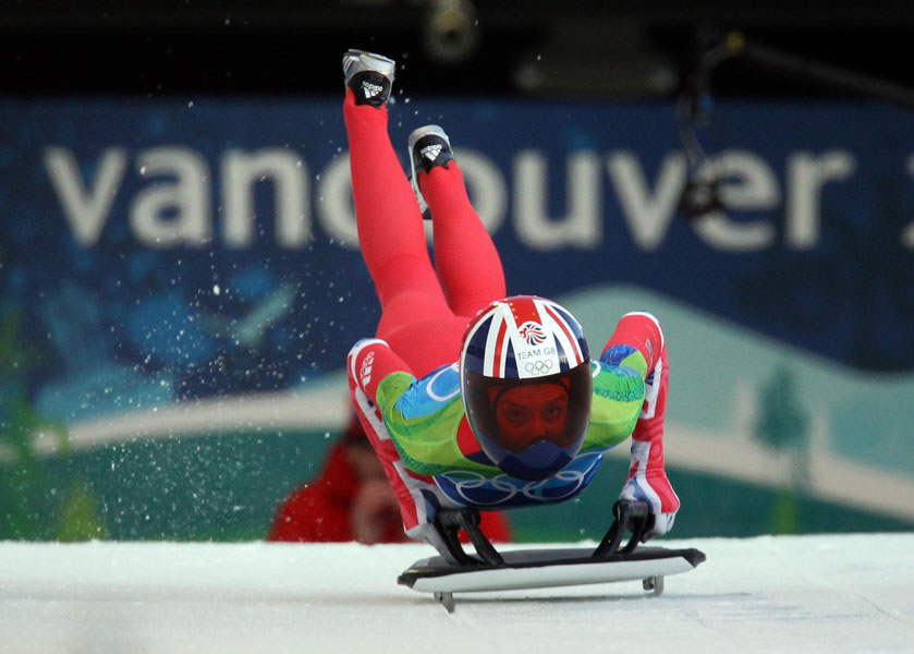 Great Britain's Amy Williams during the Women's Skeleton Run 1 at Whistler Sliding Centre, Whistler, Canada.