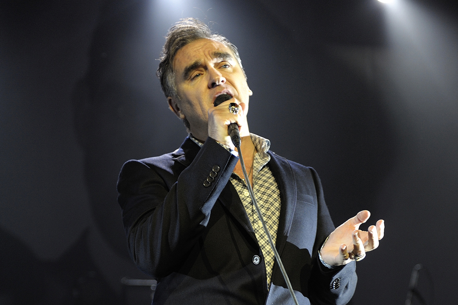 Morrissey performs live at the Royal Albert Hall, London on 27 October 2009 as part of The Swords Tour promoting his new B-sides compilation album.