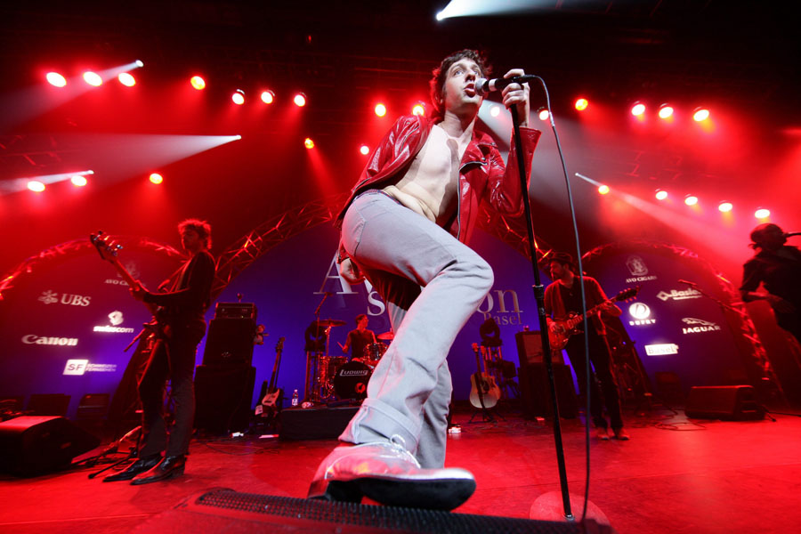 US singer and songwriter Adam Green performs on stage at the Avo Session in Basel, Switzerland, Wednesday, Nov. 12, 2008. (AP Photo/Keystone, Patrick Straub)