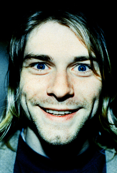 Nirvana frontman Kurt Cobain photographed in the studio