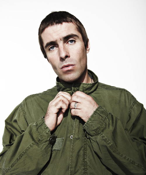 Liam Gallagher shot at Spring Studios for the NME