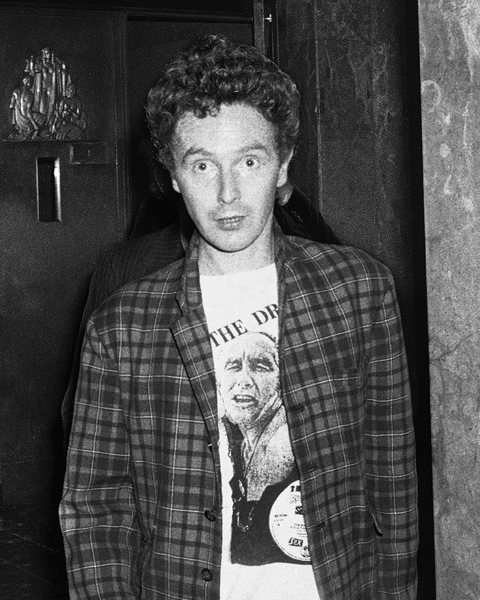 FILE - In this Oct. 13, 1978 file photo, band manager Malcolm McLaren leaves Manhattan Criminal Court in New York, after the arraignment of Sid Vicious of the punk rock band the Sex Pistols, on second-degree murder in the stabbing death of his girlfriend, Nancy Spungen. McLaren, 64, died of cancer, Thursday, April 8, 2010, in New York according to his agent, Les Molloy. (AP Photo, file)