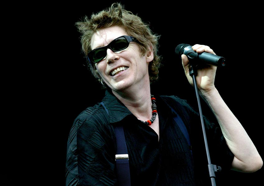 Richard Butler vocalist of The Psychedelic Furs performs  on stage at the 02 Wirelss Festival in Hyde Park on June 24, 2005 in London.