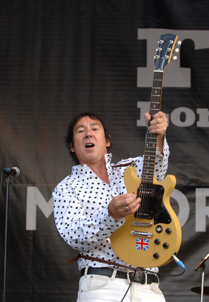 The Buzzcocks perform on stage at the Rise:London United anti-racism festival in Finsbury Park, north London.