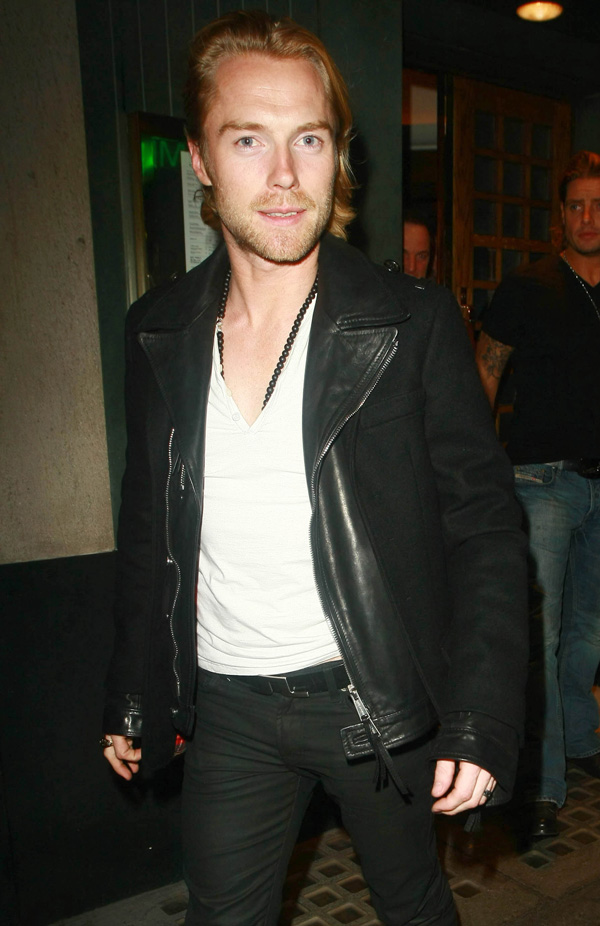 Ronan Keating spotted at The Ivy, central London.