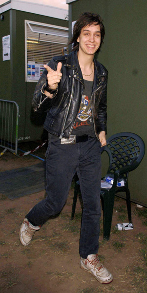 Julian Casablancas of New York band The Strokes backstage at the O2 Wireless Festival 2006, at Hyde Park, central London.