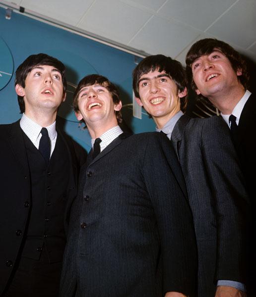 The Beatles: (l-r) Paul McCartney, Ringo Starr, George Harrison and John Lennon