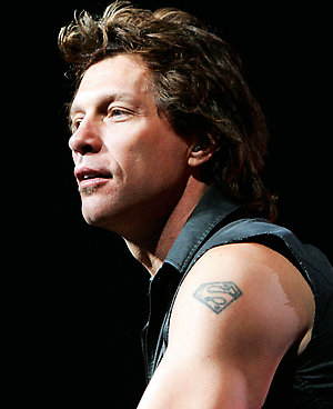 The New Jersey based rock band Bon Jovi with frontman Jon Bon Jovi performs before a sold out TD Banknorth Garden in Boston, Massachusetts, as part of their Lost Highway Tour.