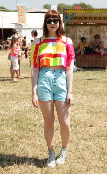 Kate Nash backstage during the Glastonbury Festival in Somerset.