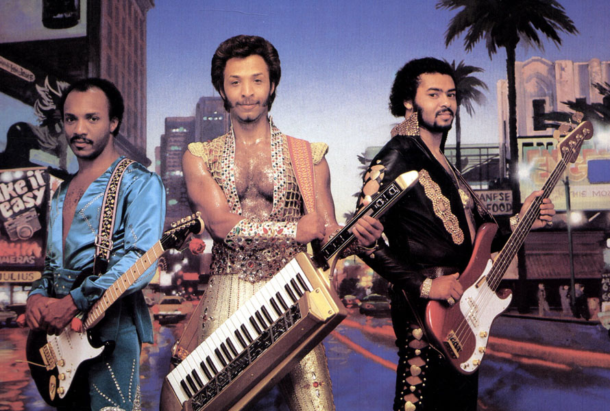 UNSPECIFIED - JANUARY 01:  (AUSTRALIA OUT) Photo of ISLEY BROTHERS and Ernie ISLEY and Chris JASPER and Marvin ISLEY; L-R: Ernie Isley, Chris Jasper, Marvin Isley - posed  (Photo by GAB Archive/Redferns)