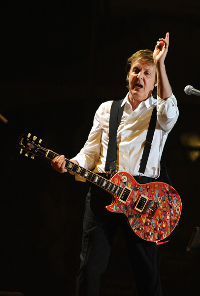Sir Paul McCartney performs at the 2009 Coachella Valley Music & Arts Festival. Indio, USA