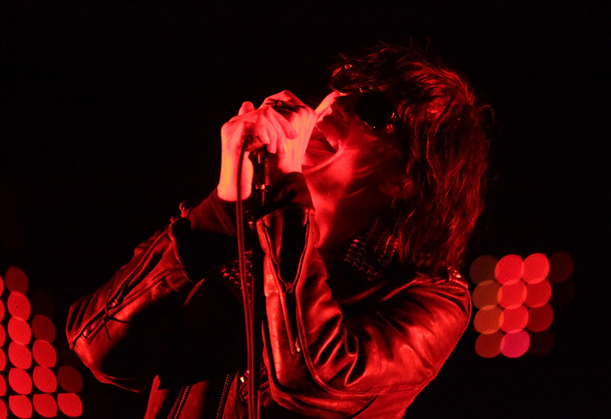 Julian Casablancas of The Strokes performing on the Main Stage, at the the Isle of Wight Festival, at Seaclose Park in Newport.
