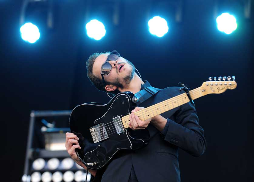 Editors perform at the Isle of Wight festival, in Newport on the Isle of Wight.