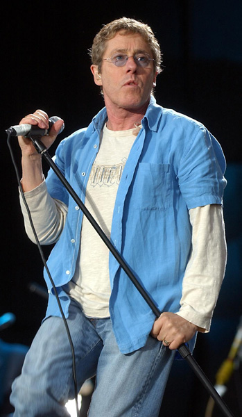The Who lead singer Roger Daltrey performs on the Main Stage at the T in the Park music festival in Balado, Scotland.