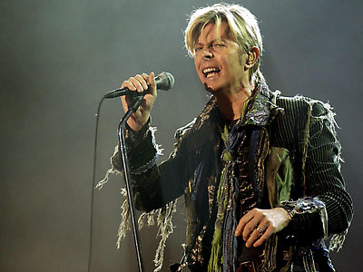 David Bowie performs live onstage during the Isle of Wight festival at Seaclose Park in Newport, Isle of Wight.