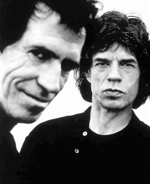ADVANCE FOR SUDNAY, NOV. 12--Mick Jagger, left, and Keith Richards, are shown together in this August, 1995 photo. Jagger and Richards, Roling Stones bandmates since 1962, have evolved into rock's yin and yang. (AP Photo/Anton Corbijn)