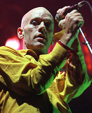 REM in concert at Earls Court in London