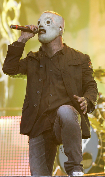 Corey Taylor of Slipknot performs at Download Festival 2009 at Donnington Park, in Derby.
