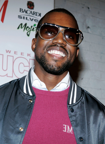 Rapper Kanye West poses at the In Touch Weekly 5th Anniversary Party at Tenjune club in New York City.